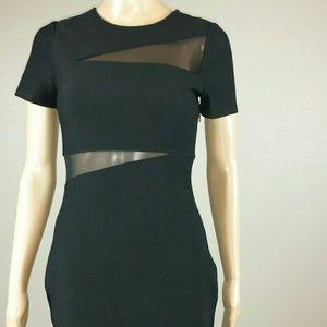 Express Black dress with Mesh Cut OBlackuts